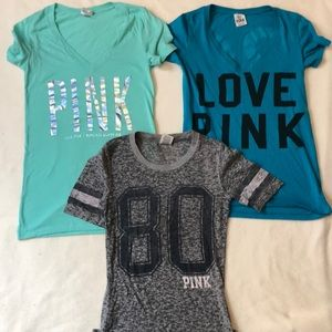 VS Pink t-shirt bundle